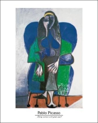 Pablo Picasso Sitzende Frau mit gruenem Schal