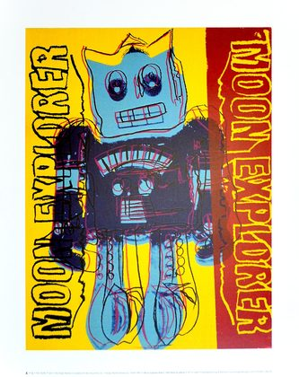 Andy Warhol Moon Explorer Robot 1983 (blue & yellow)