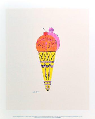 Andy Warhol Ice Cream Dessert c.1959 (red & pink)
