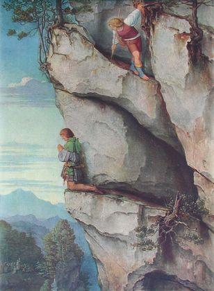 Moritz von Schwind Kaiser Maximilian in der Martinswand