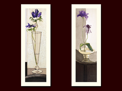 Ina van Toor 2er Set 'In Glas' + 'Purple I'