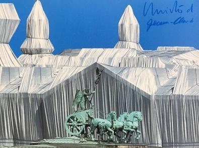 Christo und Jeanne-Claude Reichstag mit Quadriga, signiert