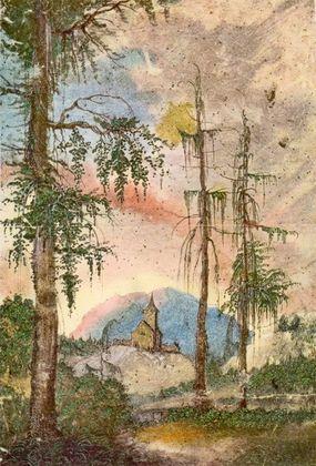 Albrecht Altdorfer Landschaft mit Kirche