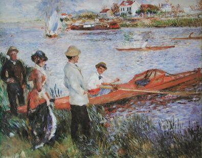 Pierre Auguste Renoir Ruderer bei Chatou  1879