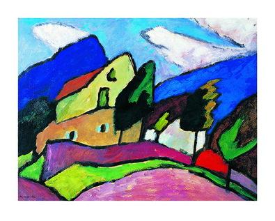 Gabriele Muenter Wind und Wolken, 1910