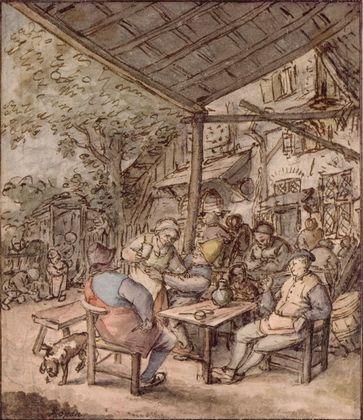 Adriaen van Ostade Hollaendische Bauernschenke