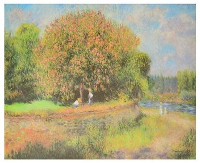 Pierre-Auguste Renoir Bluehender Kastanienbaum