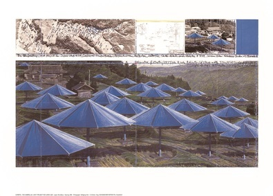 Christo Umbrellas Blue I