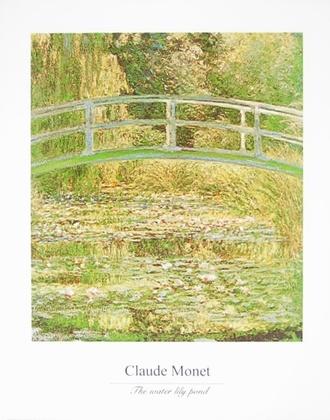 Claude Monet Seerosenteich mit Bruecke (mit Schrift)