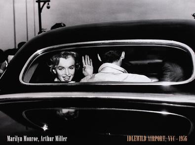 Corbis / Bettmann Marilyn Monroe & Arthur Miller - Idlewild Airport, NYC 1956
