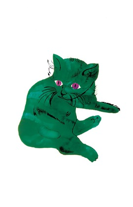 Andy Warhol Cat green