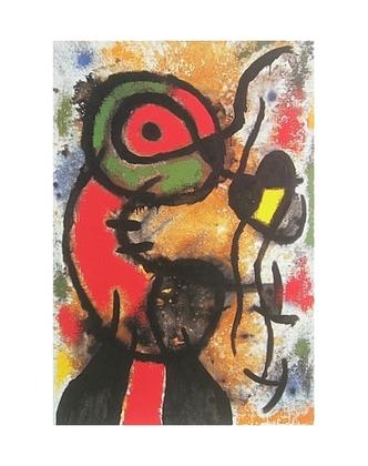 Joan Miro Personnage et Oiseau