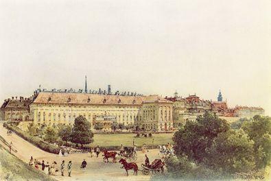 Rudolph von Alt Alte Hofburg mit Bellaria in Wien