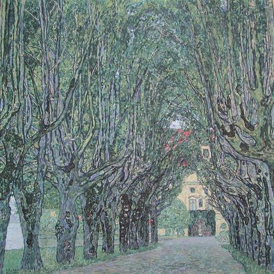 Gustav Klimt Allee vor Schloss Kammer am Attersee