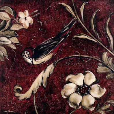 Laurel Lehman 2er Set 'Crimson Songbird 3 + 4'
