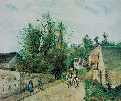 Camille Pissarro Die Postkutsche   Route d Ennery