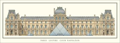 Architektur Paris Louvre Cour Napoleon
