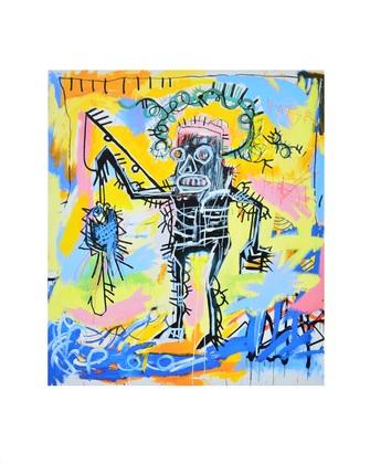 Jean-Michel Basquiat Untitled (Fishing)