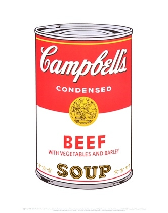 Andy Warhol Campbells Soup Beef