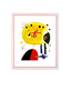 Miro joan and fix the hairs on the star mit passepartout medium