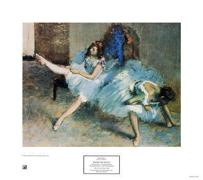 Degas edgar before the ballet large