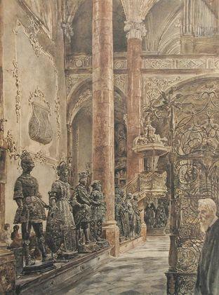 Rudolph von Alt Inneres der Hofkirche in Innsbruck