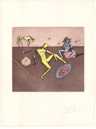 Salvador Dali Don Quijote (F) - Der Spiegel von Chivalry
