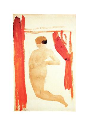 August Rodin Femme nue de dos, agenouillees et les mains sur les hanches