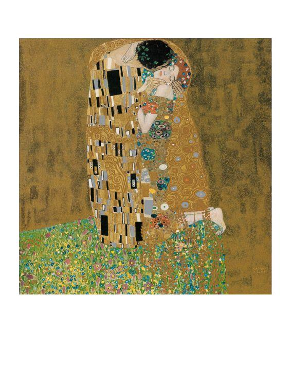 gustav klimt der kuss mit rand poster kunstdruck bei. Black Bedroom Furniture Sets. Home Design Ideas