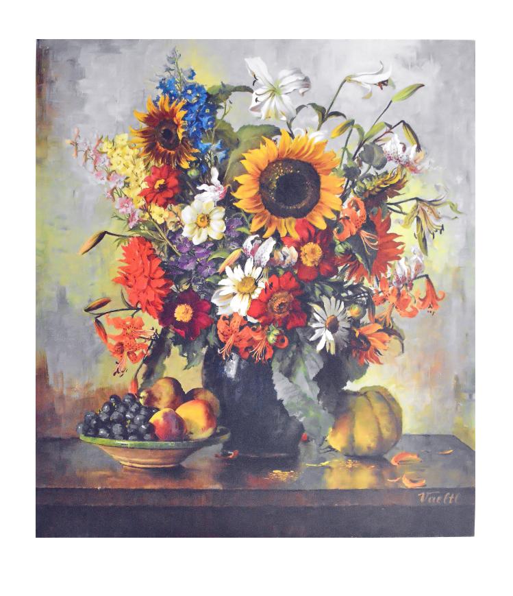otto vaeltl herbstblumen mit fruechten poster kunstdruck bei. Black Bedroom Furniture Sets. Home Design Ideas