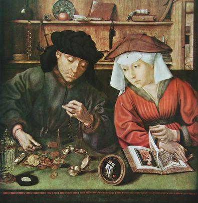Quentin Massys Der Geldverleiher und seine Frau  1514