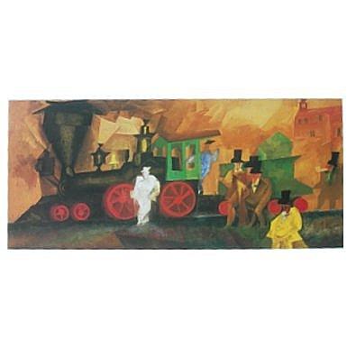 Lyonel Feininger Alte Lokomotive