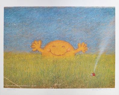 Peter-T Schulz Sonne in Wiese