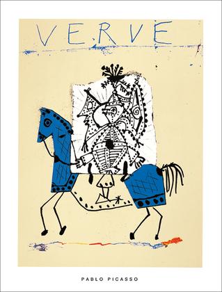 Pablo Picasso Cover fuer Verve 1951