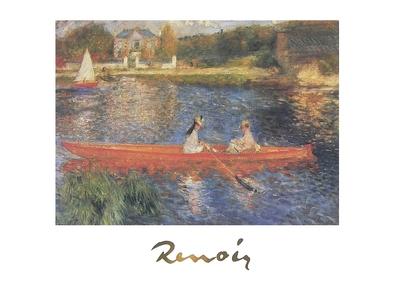 Pierre Auguste Renoir Die Rudernden auf der Seine bei Asnieres (mit Schrift)