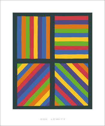 Sol Lewitt Color Bands in four Directions, 1999