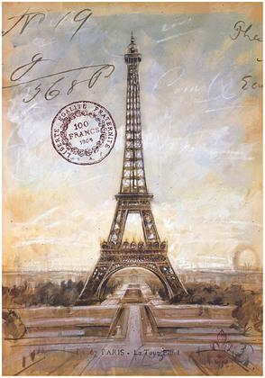 Chad Barrett Eiffel Tower Sketch