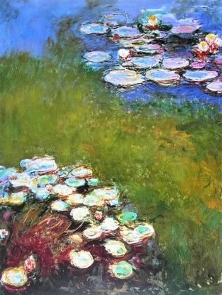 Claude Monet Wasserlilien, Harmonie in Blau