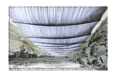 Christo Over the River IV Underneath