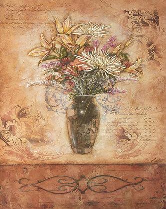 Kimberly Baker 2er Set 'Scripted Floral I + II'