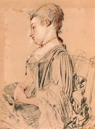 Antoine Watteau Sitzende Frau