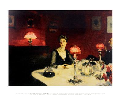 John Singer Sargent Le verre de porto (A Dinner Table at Night), 1884
