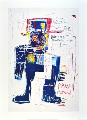 Jean-Michel Basquiat Irony of Negro Policeman 1981