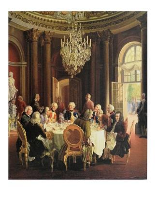 Adolph von Menzel Die Tafelrunde