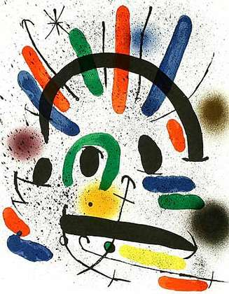 Joan Miro Volume 1 Blatt 2 (Zornige)