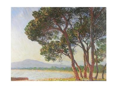 Monet claude la plage de juan les pins large