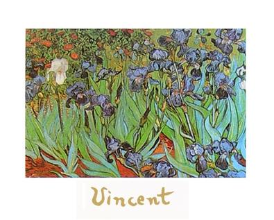 Vincent van Gogh Iris (mit Schrift)