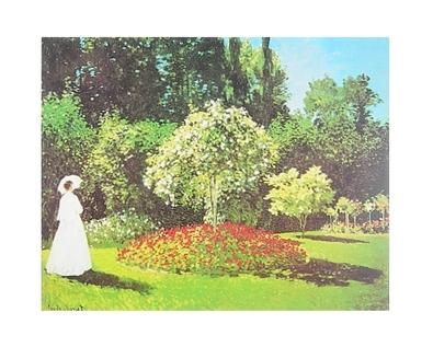 Claude Monet Fraeulein im Garten in Saint-Adresse