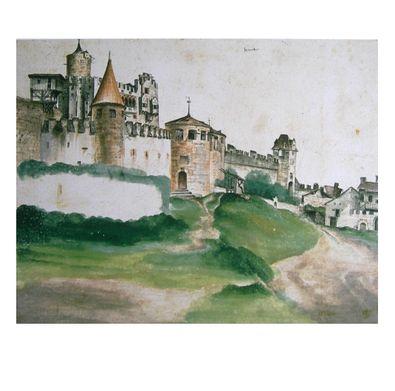 Albrecht Duerer Ansicht der Burg von Trient