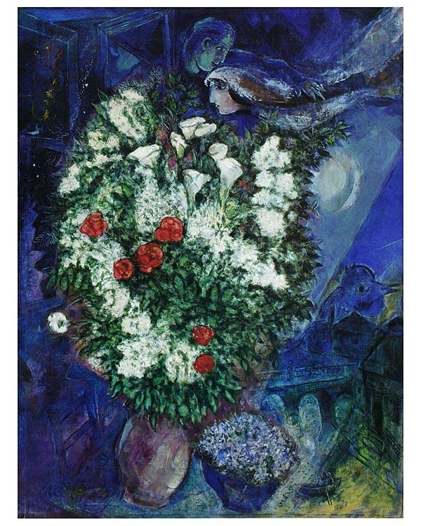 marc chagall blumenstrauss poster kunstdruck bei. Black Bedroom Furniture Sets. Home Design Ideas